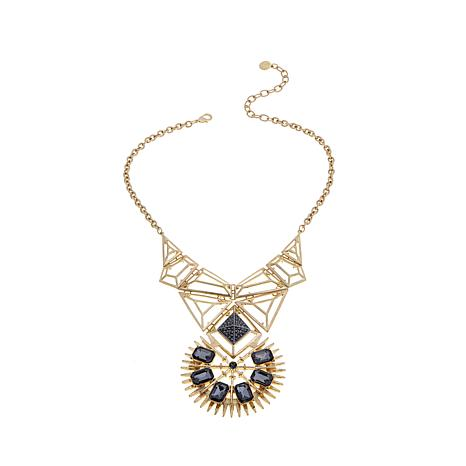 R.J. Graziano Openwork Geometric Drop Necklace