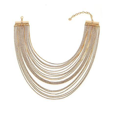 "R.J. Graziano ""Sparkle Season"" Multi-Row  Necklace"