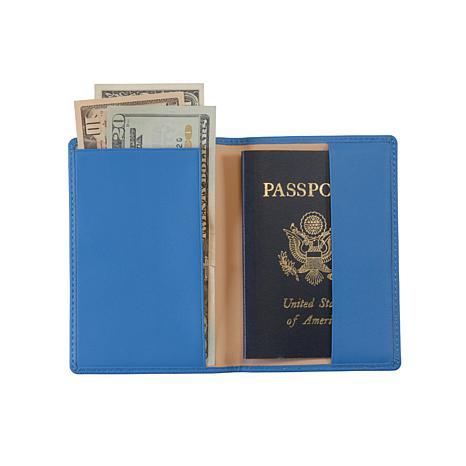 Royce Leather RFID Plain Passport Jacket
