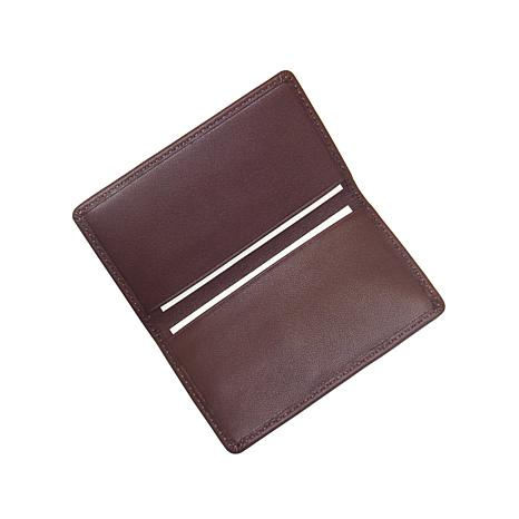 royce nappa leather business card case 7978069 hsn - Leather Business Card Case