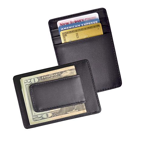 Royce Prima Nappa Leather Magnetic Money Clip Wallet
