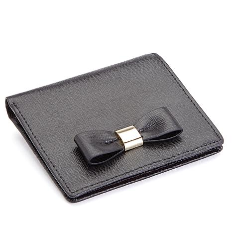 Royce RFID-Blocking Leather Mini-Bow Wallet