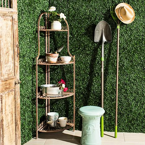 Safavieh Abarrane 4-Tier Outdoor Corner Shelf