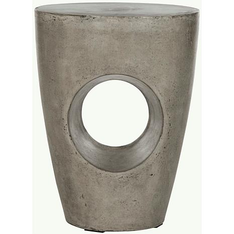 Safavieh Aishi Concrete Accent Table - Gray
