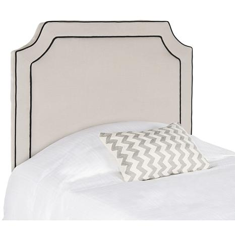 Safavieh Dane Notched Headboard with Piping- Twin