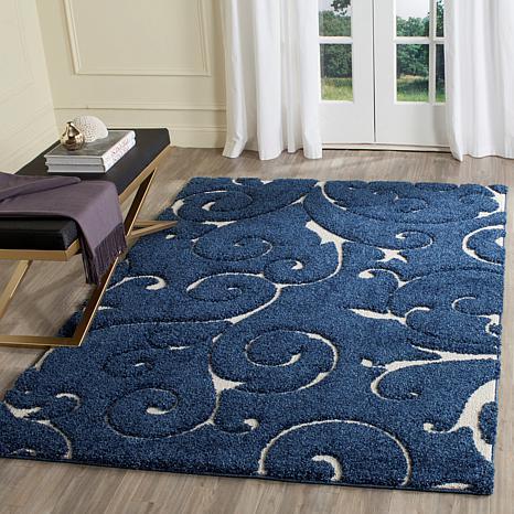 safavieh florida shag lucy area rug 5 39 3 x 7 39 6 8160715 hsn. Black Bedroom Furniture Sets. Home Design Ideas