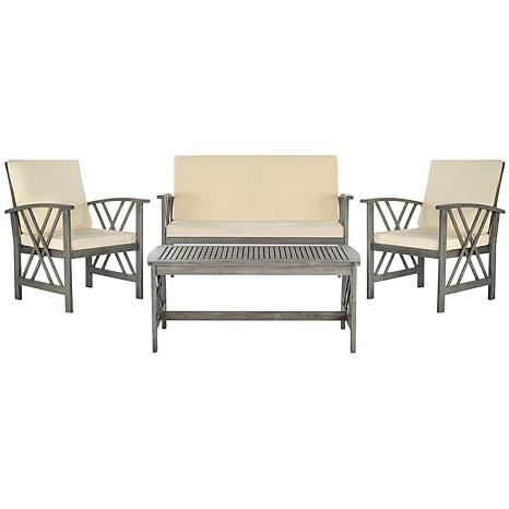 Safavieh Fontana 4-piece Outdoor Living Set
