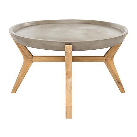 Safavieh Hadwin Modern Concrete Oval Coffee Table HSN - Oval concrete coffee table