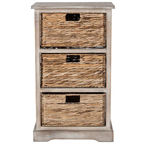 Fantastic Safavieh Halle 3 Wicker Basket Storage Side Table - 8328111 | HSN LN28