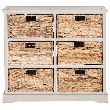 Charmant Safavieh Keenan 6 Wicker Basket Storage Chest   8328113 | HSN