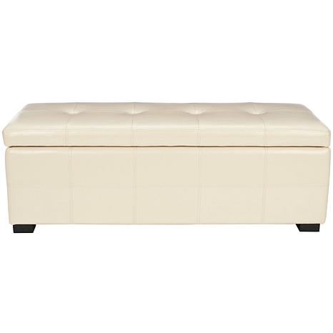 Safavieh Maiden Tufted Large Storage Bench - Flat Cream