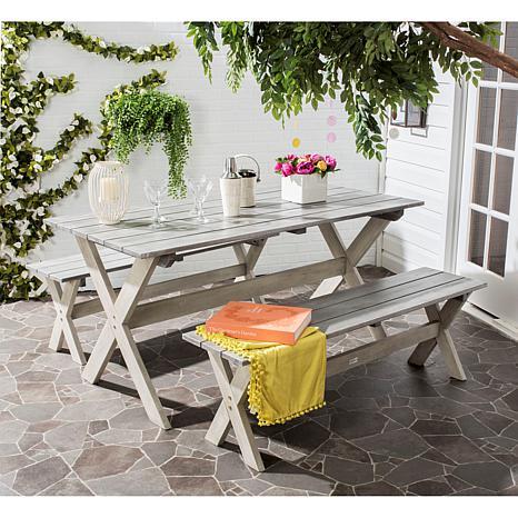safavieh marina 3piece picnic table set