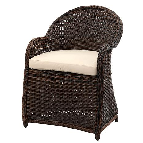 Safavieh Newton Wicker Arm Chair With Cushion