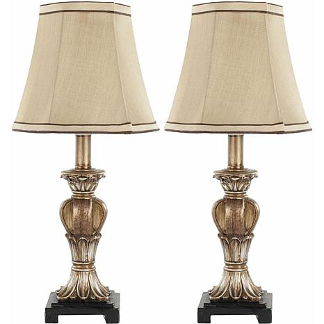 Safavieh Set of 2 Gold Mini Table Lamps