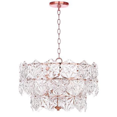 "Safavieh Sia 4 Light 19"" Diameter Adjustable Pendant"