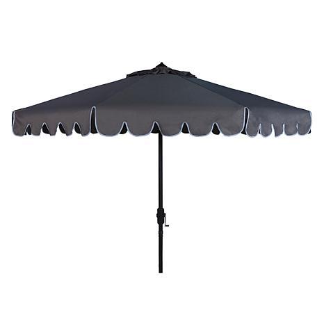Safavieh Venice Scallop 9' Crank Outdoor Umbrella