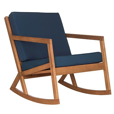 Peachy Safavieh Vernon Rocking Chair Eucalyptus Wood Gmtry Best Dining Table And Chair Ideas Images Gmtryco