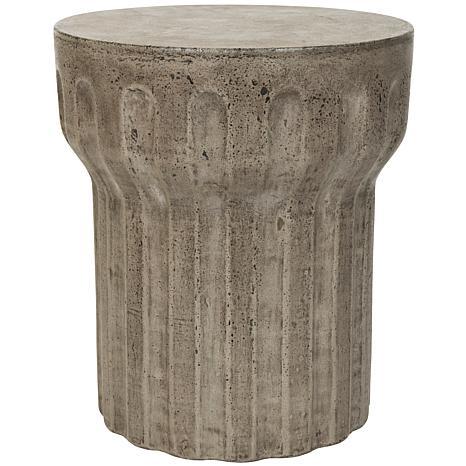 Safavieh Vesta Concrete Accent Table - Gray