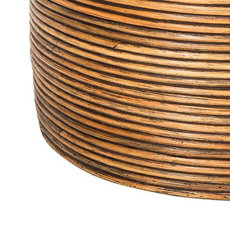 Safavieh wellington rattan storage hamper with liner 8510269 hsn - Wicker hamper with liner ...