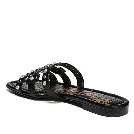 f181fc35032a Sam Edelman Bay 2 Leather Slide with Hardware - 8685228