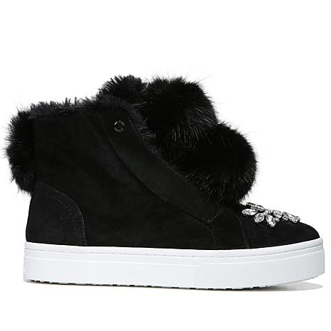 Sam Edelman Leland High-Top Sneaker with Pompom