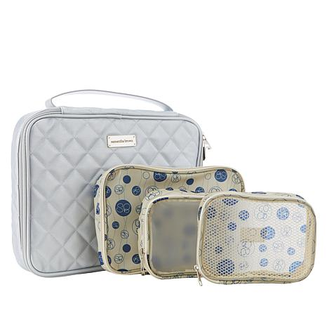 Samantha Brown Quilted Cosmetic Case/Organizer