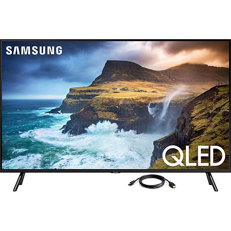 """Samsung 4K QLED 55"""" Smart Flat Television with 6' HDMI Cable"""
