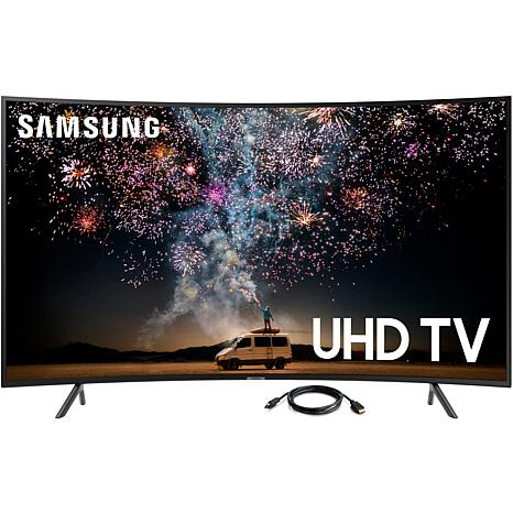 """Samsung RU7300 65"""" 4K UHD Curved Smart TV with 6' HDMI Cable"""