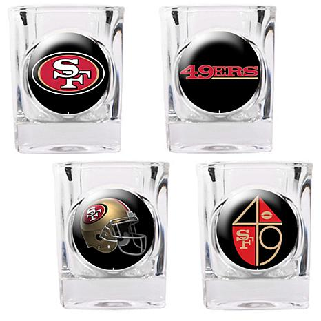 San Francisco 49ers 4pc Collector's Shot Glass Set