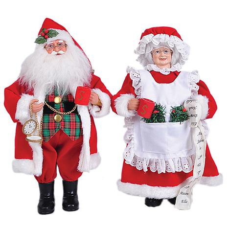Santa's Workshop 15' Mr. and Mrs. Claus Figurines