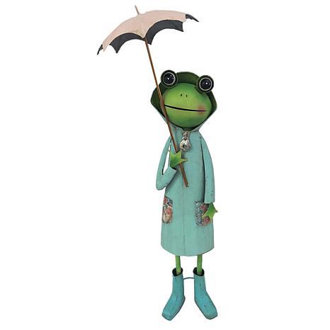 """Santa's Workshop 35"""" Mr. Frog in the Rain"""