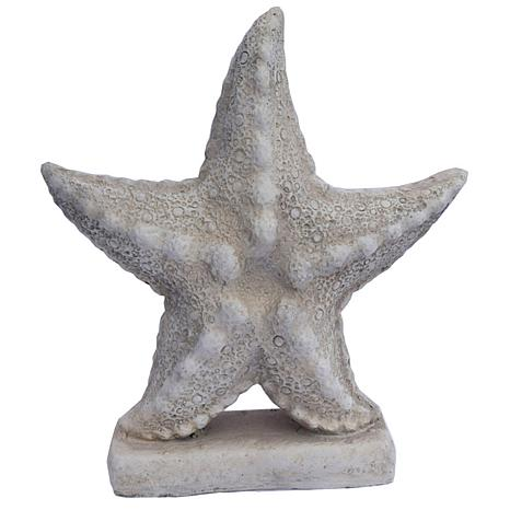 Santa's Workshop Cold Cast Yard Starfish in Antique White