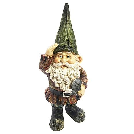 Santa's Workshop Gnome with Spade Statue