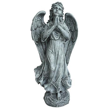 Santa's Workshop Grey Standing Praying Angel Statue