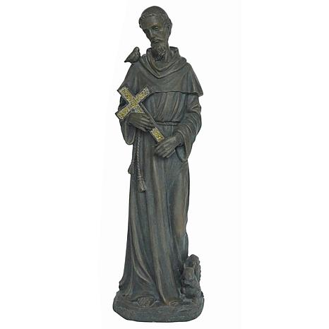 Santa's Workshop Resin St. Francis with Cross