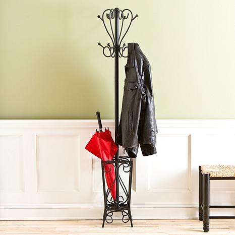 Scrolled Coat Rack and Umbrella Stand - 6408579 | HSN