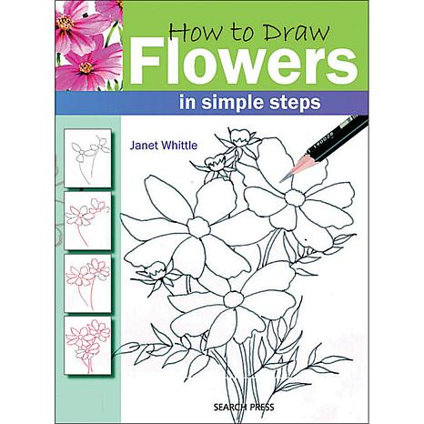 "search press books ""how to draw flowers"" by janet whittle, Beautiful flower"