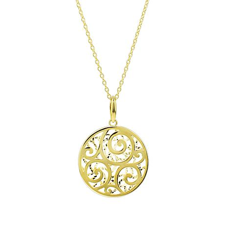 """Séchic 14K Yellow Gold Medallion with 16"""" Chain"""