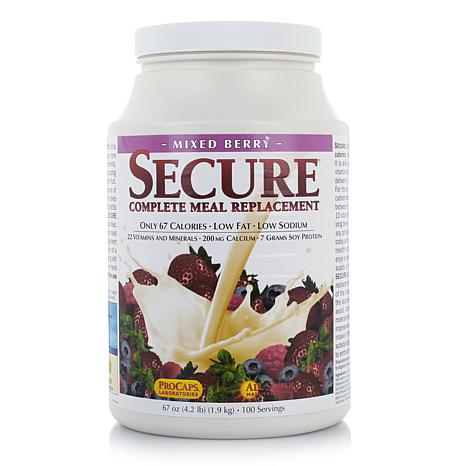 Secure Meal Replacement - 100 Serv - Mixed Berry - AS