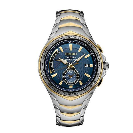 Seiko Men's Coutura 2-Tone Stainless Steel Blue Dial Chronograph Watch