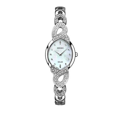 Seiko Women's Crystal-Accented Watch and Necklace Set
