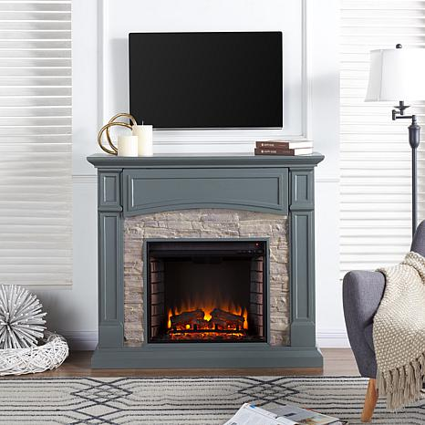 Seneca Media Electric Fireplace - Gray