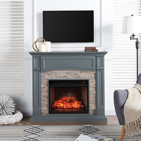 Seneca Media Infrared Fireplace Gray