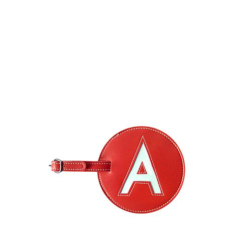 Set of 2 Single Initial Round Luggage Tags