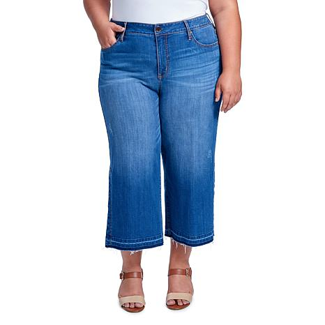 Seven7 High Rise Gaucho with Side Slits - Zen