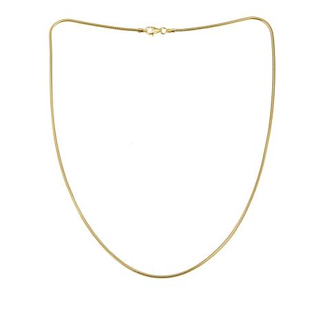 """Sevilla Silver™ 18"""" Gold-Plated Snake Chain"""