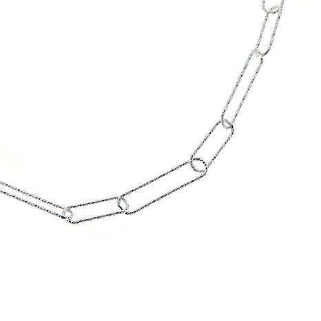 "Sevilla Silver™ 20"" Diamond-Cut Paperclip Necklace"