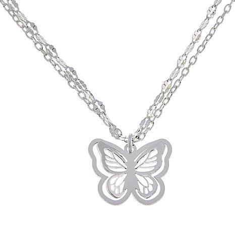 """Sevilla Silver™ """"3-D"""" Butterfly Necklace"""