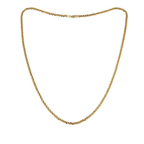 "Sevilla Silver™ 30"" Gold-Plated Bold Glitter Rope Chain - Yellow"