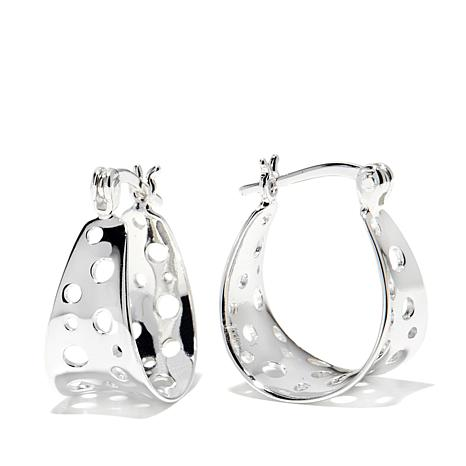 Sevilla Silver™ Concave Cut-Out Circle Hoop Earrings